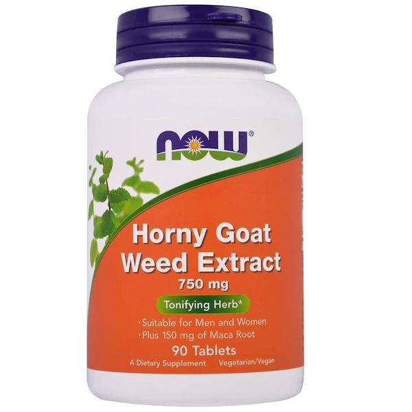 Now Foods, Экстракт горянки, 750 мг, 90 таблеток