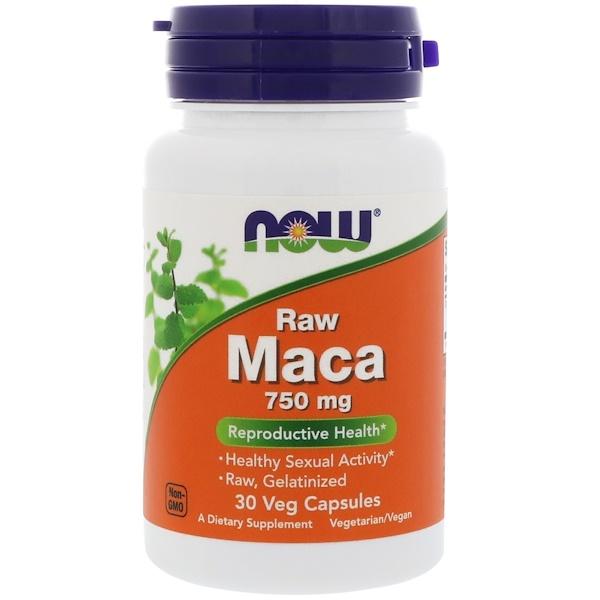 Необработанная мака, 750 мг, 30 вегетарианских капсул