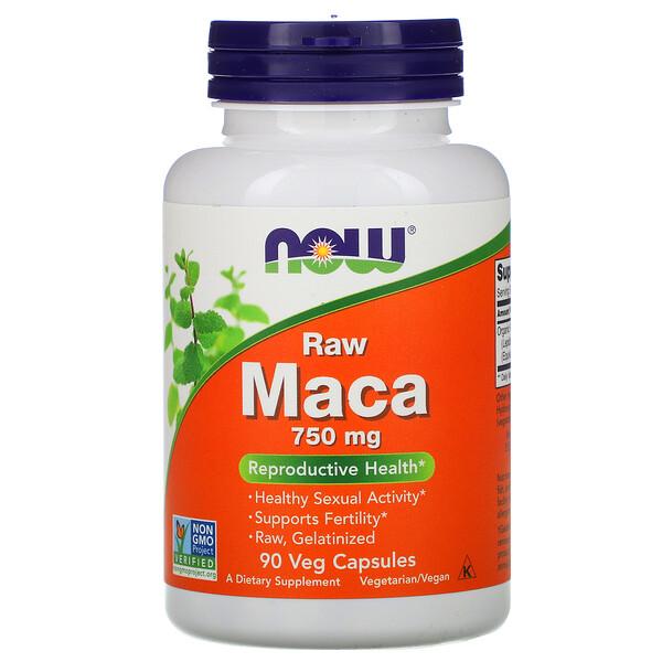 Мака, необработанная, 750 мг, 90 растительных капсул