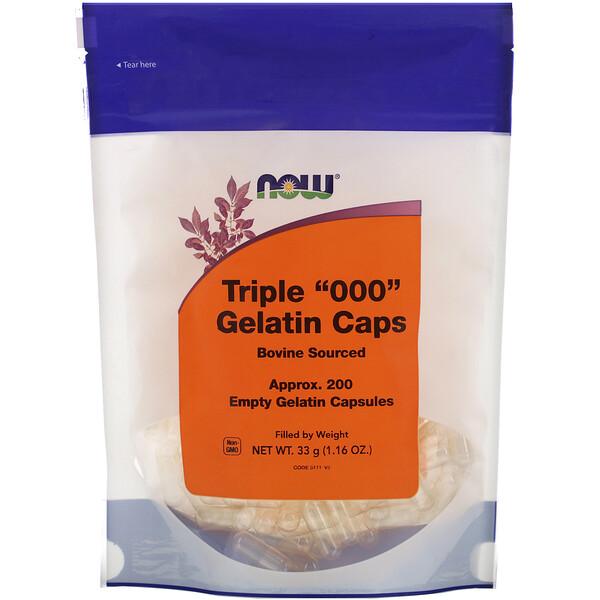 "Triple ""000"" Gelatin Caps, Approx. 200 Empty Gelatin Capsules"