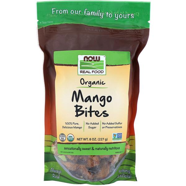 Now Foods, Real Foods, органические снеки из манго, 227г (Discontinued Item)