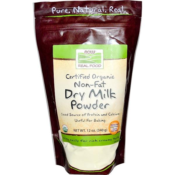 Real Food, сертифицированное органическое обезжиренное сухое молоко, 340 г (12 унций)