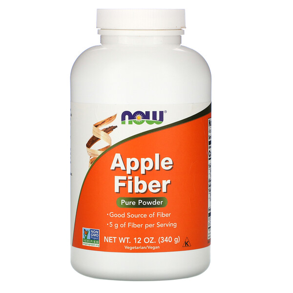 Now Foods, Apple Fiber, Pure Powder, 12 oz (340 g)