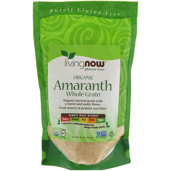 Now Foods, Organic Amaranth, Whole Grain, 16 oz (454 g)