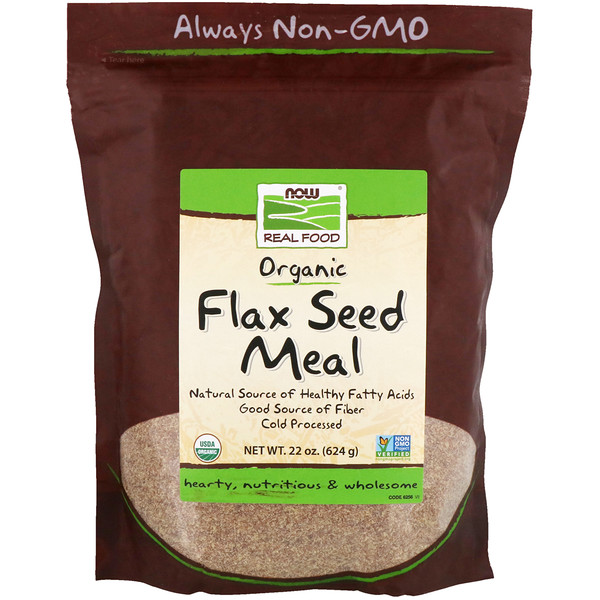 Real Food, Organic Flax Seed Meal, 1.4 lbs (624 g)
