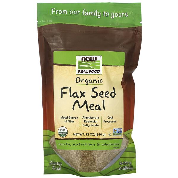Real Food, Organic Flax Seed Meal, 12 oz (340 g)