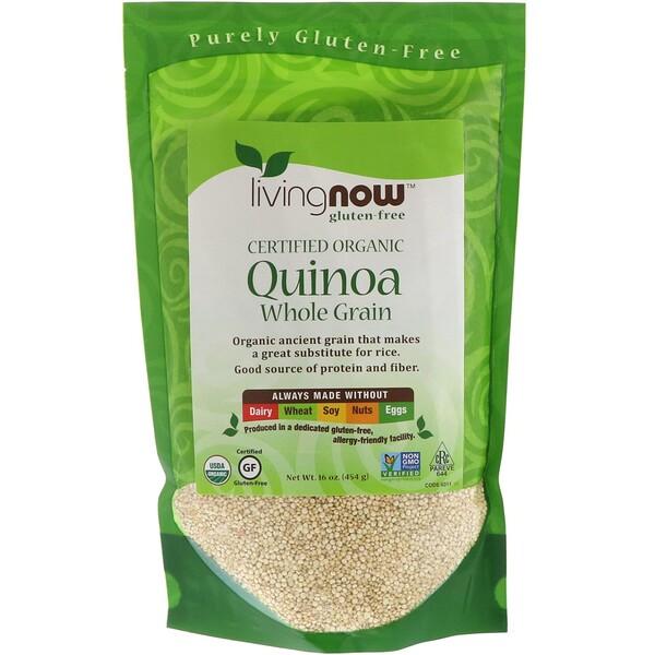 Now Foods, Organic Quinoa, цельное зерно, 454 г (16 унций)