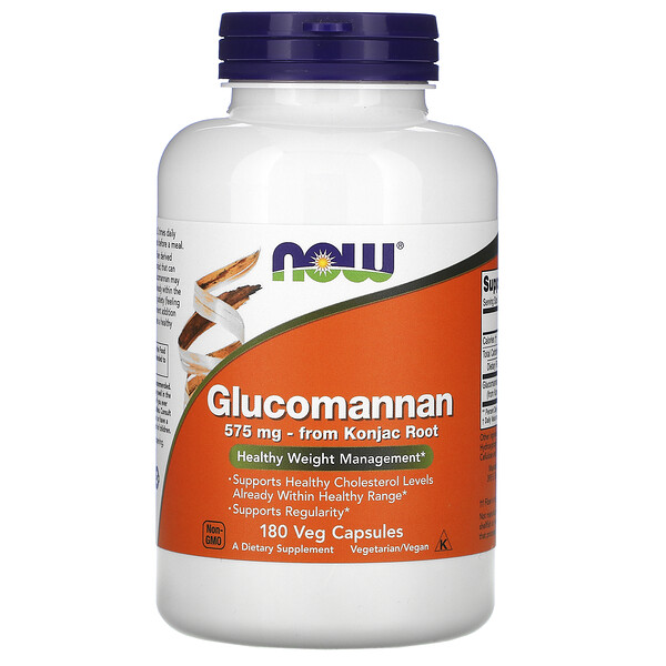Глюкоманнан, 575 мг, 180 капсул
