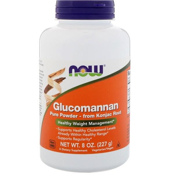 Now Foods, Глюкоманнан, чистый порошок, 227 г (8 унций)