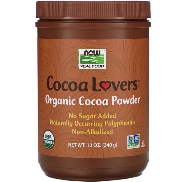 Real Food, Cocoa Lovers, органический какао-порошок, 340г