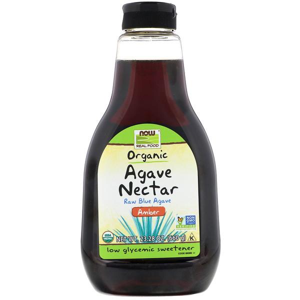 Real Food, нектар органической агавы, янтарь, 23,28 унций (660 г)
