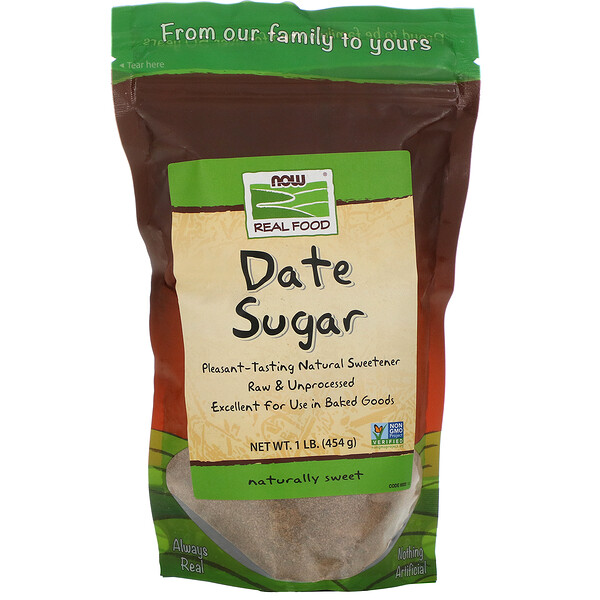 Real Food, Финиковый сахар, 1 фунт (454 г)