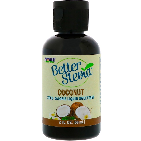 Now Foods, Better Stevia, Zero-Calorie Liquid Sweetener, Coconut, 2 fl oz (59 ml)