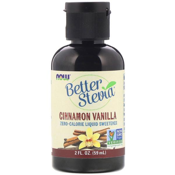 Better Stevia, жидкий подсластитель, корица и ваниль, 2 жидкие унции (60 мл)