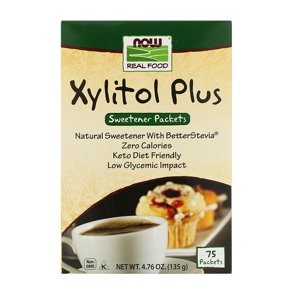 Now Foods, Xylitol Plus, 75 Packets, 4.76 oz (135 g)