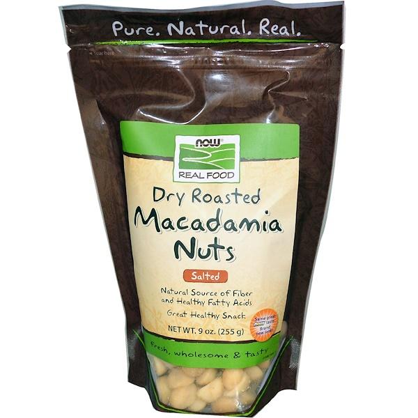 Орехи макадамии, жареные всухую, с солью, 9 унций (255 г)