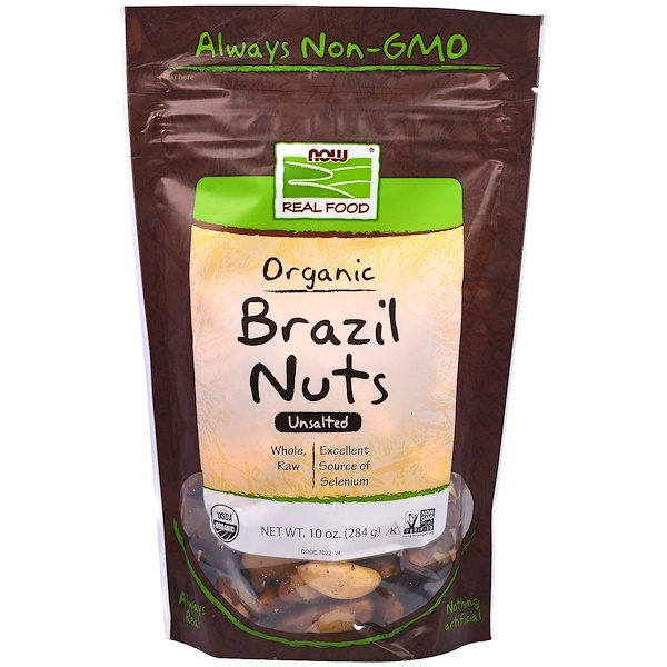 Органические бразильские орехи, несолёные, 284 г