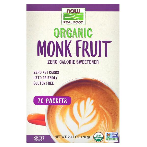 Real Food, органический подсластитель из архата с нулевой калорийностью, 70пакетиков, 70г