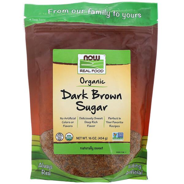 Real Foods, органический коричневый сахар, 454г