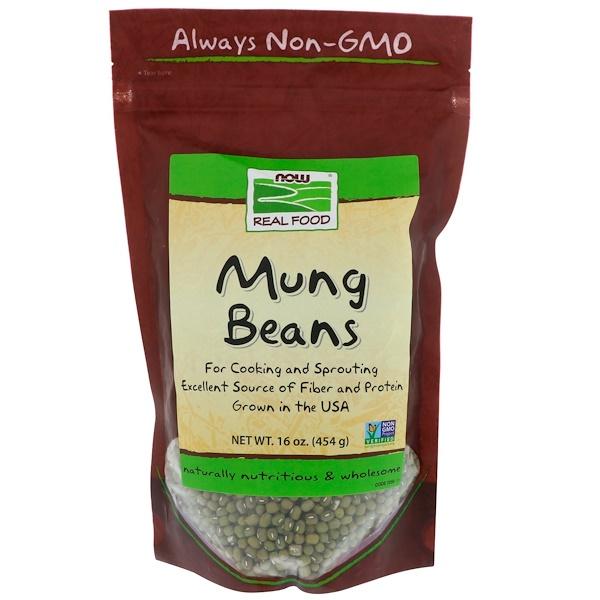 Now Foods, Бобы мунг, 16 унций (454 г)