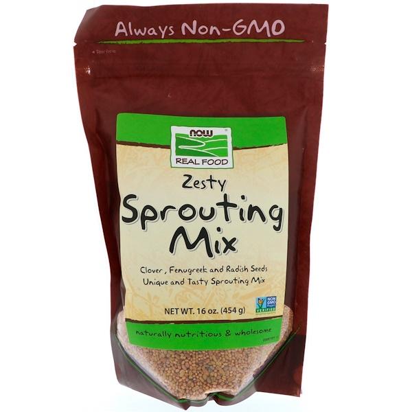 Now Foods, Real Food, Микс семян для прорастания, 16 унций (454 г)