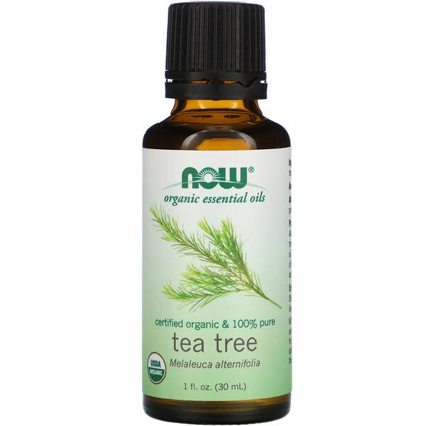 Now Foods, Органические эфирные масла, масло чайного дерева, 1 жидкая унция (30 мл)