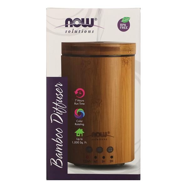 Solutions, ультразвуковой диффузор масла из натурального бамбука, 1 диффузор