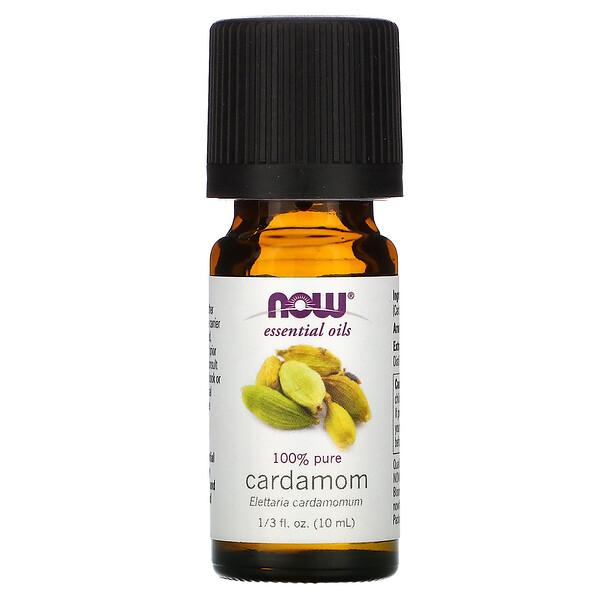 Now Foods, Essential Oils, 100% Pure Cardamom, 1/3 fl oz (10 ml)