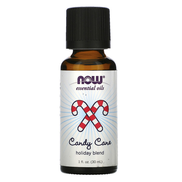 Now Foods, Essential Oils, Candy Cane Holiday Blend, 1 fl oz (30 ml)