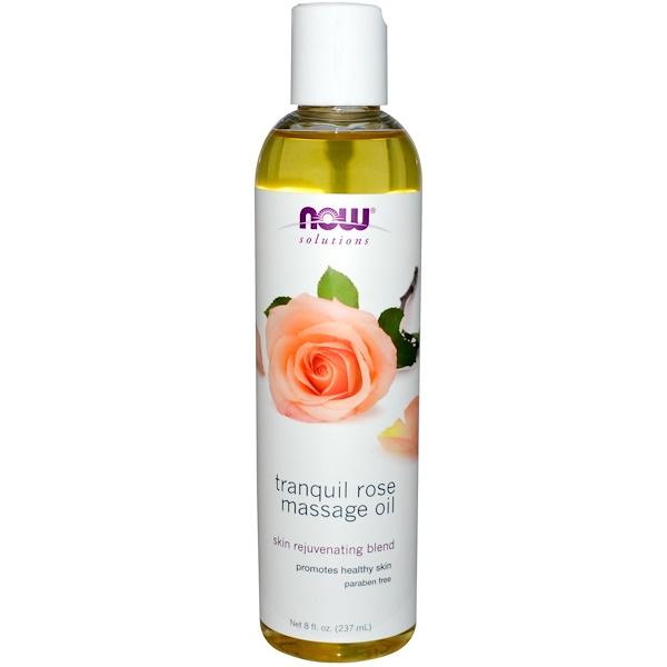 Solutions, расслабляющее розовое масло для массажа, 237 мл (8 жидких унций)