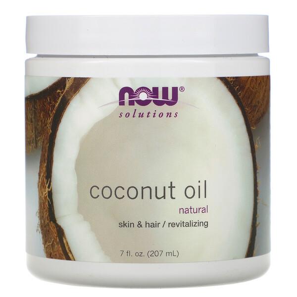 Now Foods, Решения, кокосовое масло, 207мл