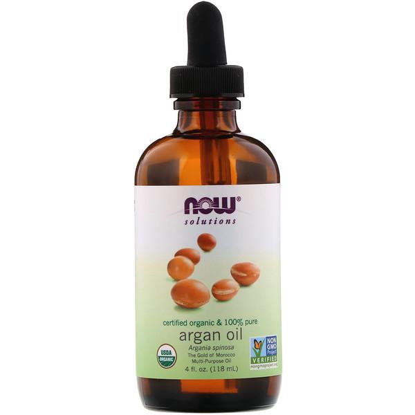 Solutions, сертифицированное на 100% чистое органическое аргановое масло, 118 мл (4 жидк.унций)