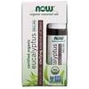 Now Foods, Certified Organic Eucalyptus Roll-On, 1/3 fl oz (10 ml)