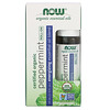 Now Foods, Certified Organic Peppermint Roll-On, 1/3 fl oz (10 ml)