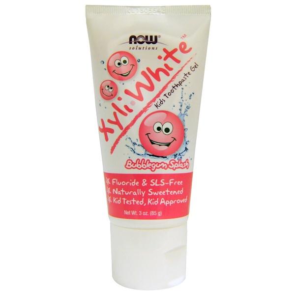 Solutions, XyliWhite, детская зубная гель-паста, со вкусом жевательной резинки, 85г (3 унции)