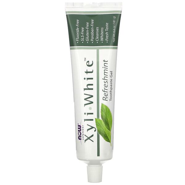 Solutions, Xyli-White, зубная гель-паста, без фтора, освежающая мята, 181г(6,4унции)