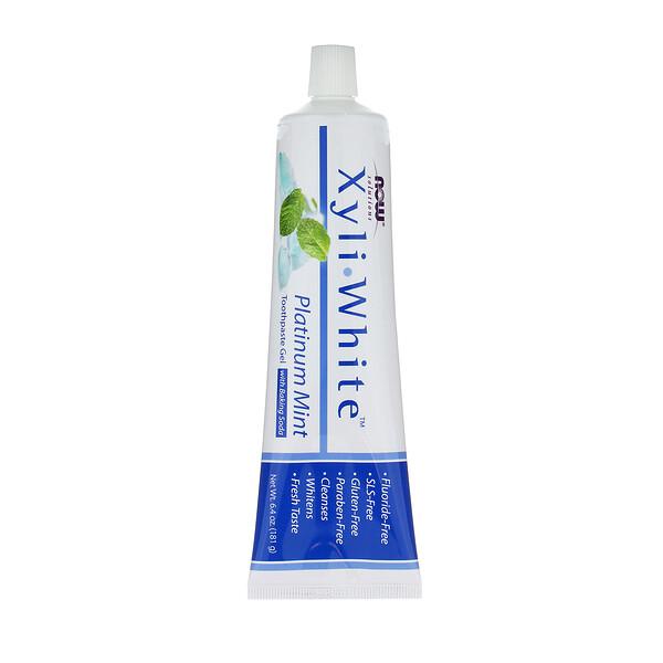 Solutions, XyliWhite, зубная гель-паста, мята, 181г (6,4 унции)