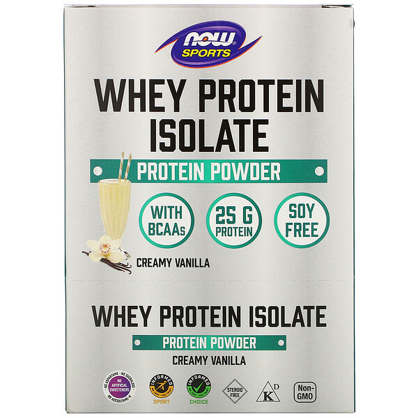 Sports, Whey Protein Isolate, Creamy Vanilla, 8 Packets, 1.13 oz (32 g) Each