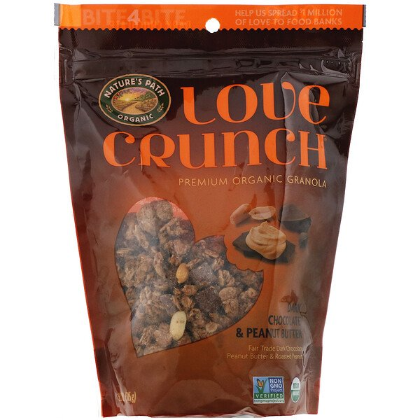Nature's Path, Гранола Love Crunch, темный шоколад и арахисовая паста, 325 г (11,5 унций)