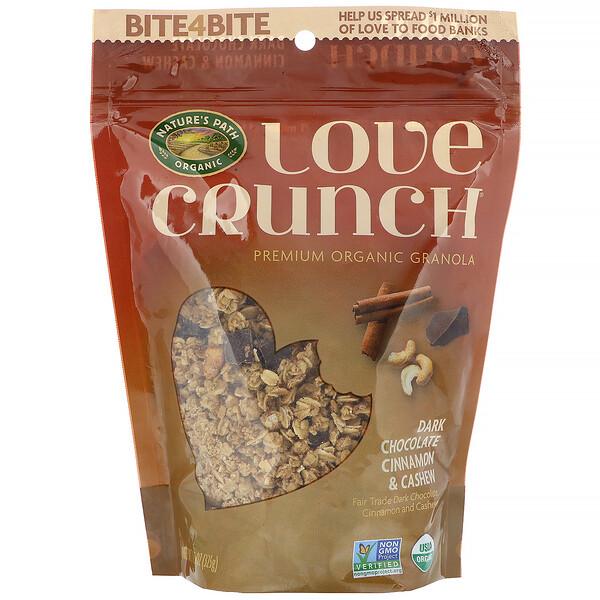 Гранола Love Crunch, темный шоколад, корица и кешью, 325 г (11,5 унций)