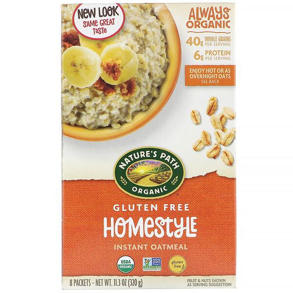 Homestyle, органическая овсяная каша быстрого приготовления, 8 пакетиков, 320 г (11,3 унции)