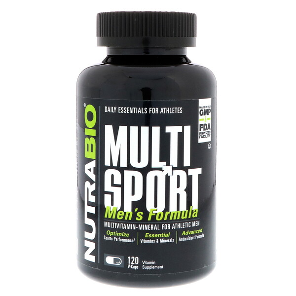 NutraBio Labs, формула для мужчин MultiSport, 120 вегетарианских капсул