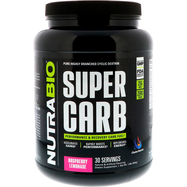 Super Carb, Rasberry Lemonade, 1.8 lb (834 g)