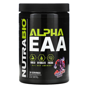 NutraBio Labs, Alpha EAA, Grape Berry Crush, .98 lb (444 g)'
