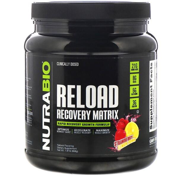 Reload, матрица для восстановления, клубника и лимон, 868г (1,91фунта)