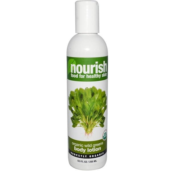 Nourish Organic, Body Lotion, Organic Wild Greens, 8.5 fl oz (255 ml) (Discontinued Item)