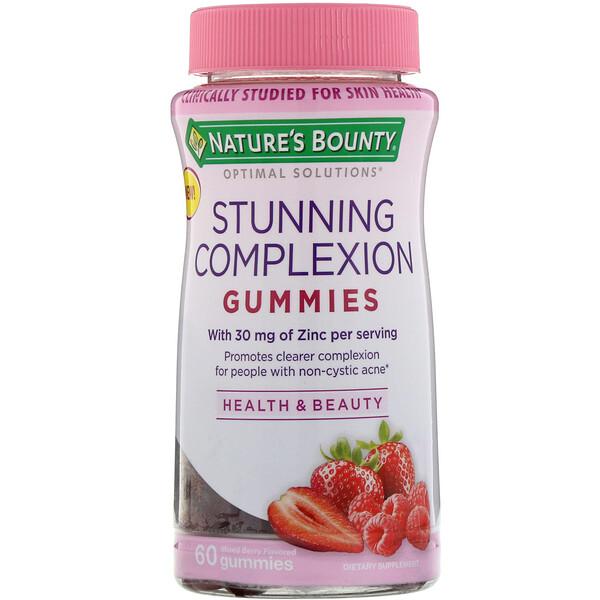 Nature's Bounty, Optimal Solutions, ошеломляющий цвет лица, вкус ягодного ассорти, 60 жевательных таблеток