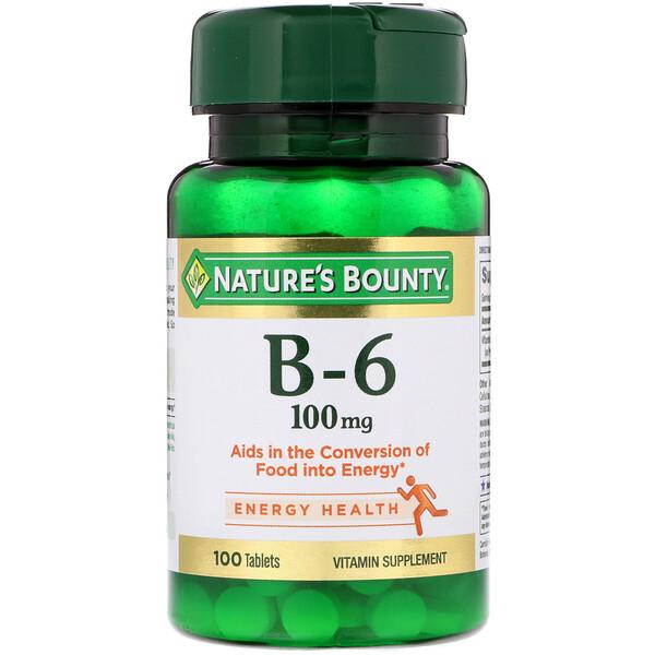 Nature's Bounty, Витамин B-6, 100 мг, 100 таблеток (Discontinued Item)