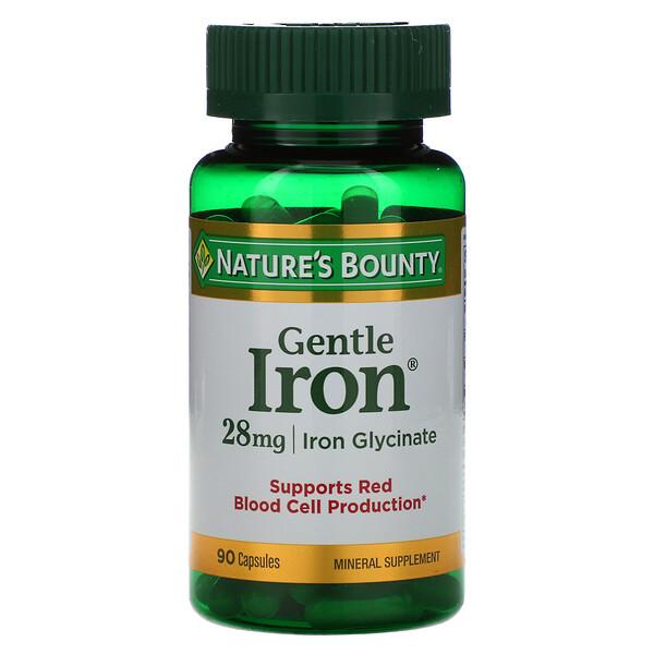 Железо мягкого действия, 28 мг, 90 капсул