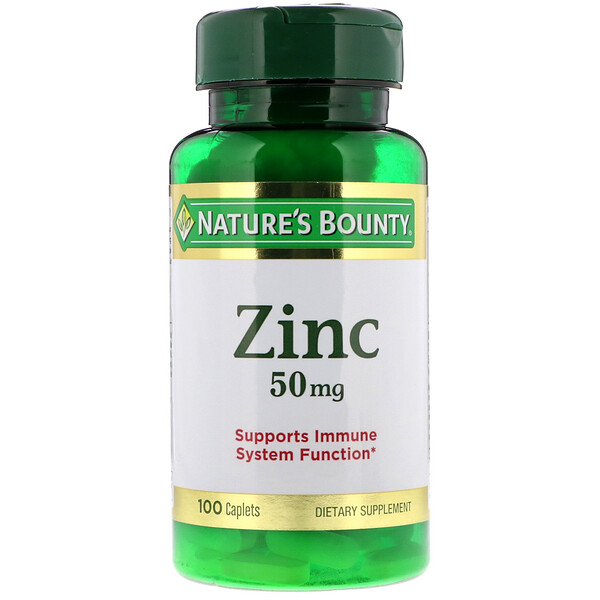 Nature's Bounty, Цинк, 50 мг, 100 капсуловидны таблетка
